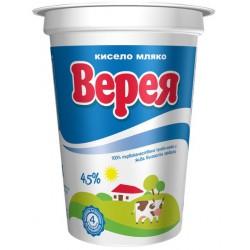 Кисело мляко Верея 4,5% 400g