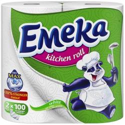 Кухненска ролка EMEKA бяла 3пластова 2бр.