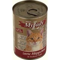 Котешка храна My Lady говеждо месо и дроб 415g