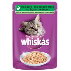 Храна за котки Whiskas Pouch Заешко 100g