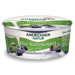 Био кисело мляко с боровинки и касис 10% 150g Andechser