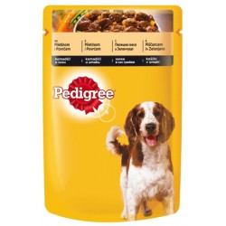 Храна за кучета PEDIGREE POUCH 100g Пилешко и зеленчуци