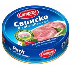 Свинско в собствен сос Compass 180g