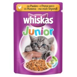Храна за котки Whiskas Pouch Junior Пилешко месо 100g