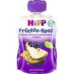 HIPP Био плодова закуска Слива, касис и круша 90g
