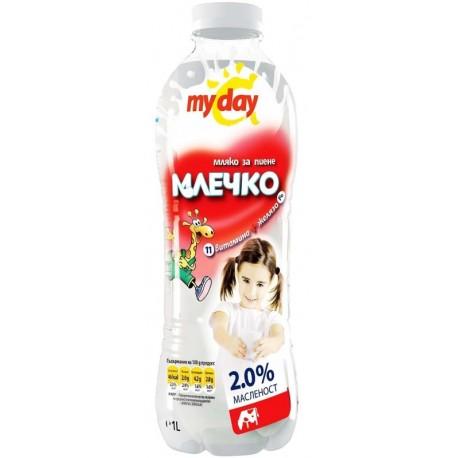 Прясно мляко My day Млечко 2% 1l