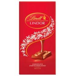 Шоколад Lindt Линдор млечен 100g червен