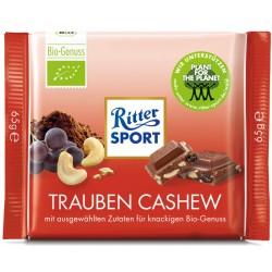 Био Шоколад RITTER SPORT стафиди и кашу 65g