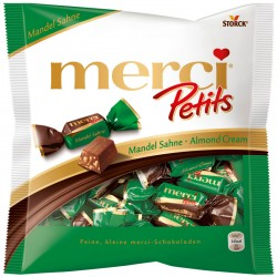 Шоколадови бонбони MERCI PETITS БАДЕМ И СМЕТАНА 125g