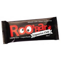БИО СУРОВ БАР Чили и сладък корен 30g Roobar