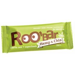 БИО СУРОВ БАР Конопен протеин и чиа 30g Roobar