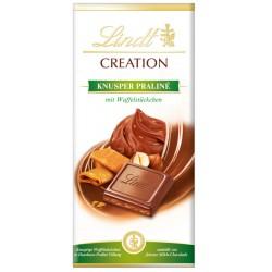 Шоколад LINDT CREATION Хрупкави пралини с парче вафла 150g