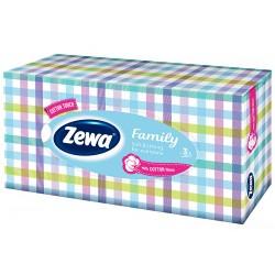 Кърпи за лице 90 бр. 3 пл. Zewa Family Кутия на квадрати