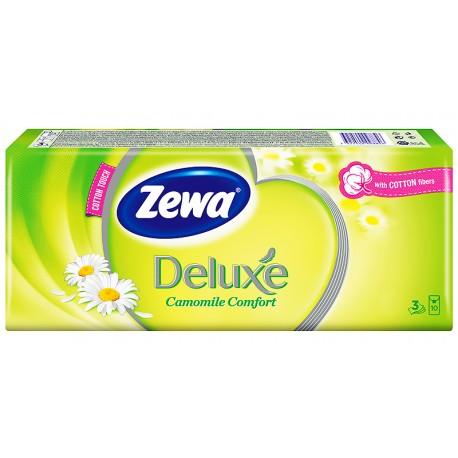 Носни кърпички Zewa Deluxe лайка 10x10бр. 3пластови