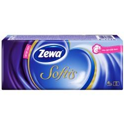 Носни кърпички Zewa Softis стандарт 10x10бр. 4пластови