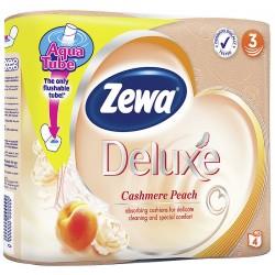 Тоалетна хартия Zewa Deluxe Праскова 3 пл. 4 бр.