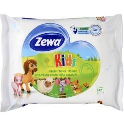 Тоалетна хартия влажна Zewa Kids 42 къса