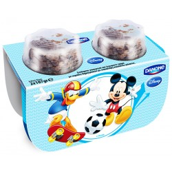 Десерт Данон Disney Мики с шоколадово-зърнен микс 2x107g