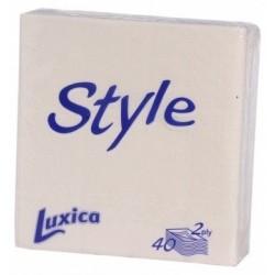 Салфетки Luxica Style бели 40бр.