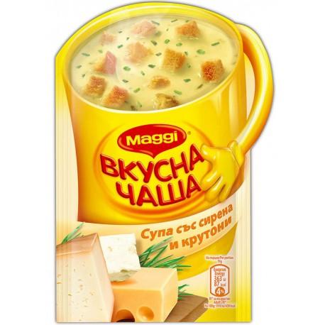 Инстантна супа със сирене и крутони Маги 0,019