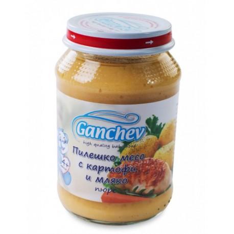 Ганчев пилешко картоф мляко 190g