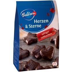 Меденки сърца и звезди в тъмен шоколад BAHLSEN 250g
