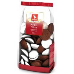 Пикантни сладки с глазура и шоколад WEISS 600g