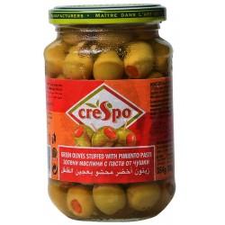 Маслини зелени с паста от чушки Crespo 354g