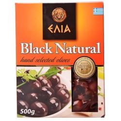 Маслини черни Elia с костилка вакуум 500g
