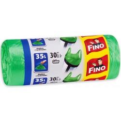Торби цветни за смет Fino 35l с дръжки 30бр.