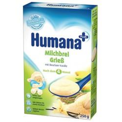 Млечна каша с грис и ванилия Хумана 0,250
