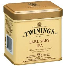 Черен чай TWININGS Earl Grey метална кутия 100g