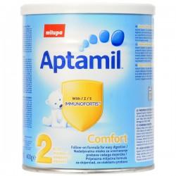 Мляко Милупа адаптирано Aptamil комфорт 2 400g