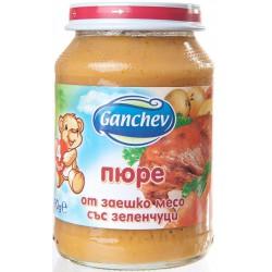 Ганчев Пюре заешко със зеленчуци 190g