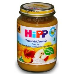 HIPP Био пълнозърнеста плодова каша 190g