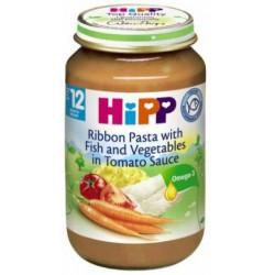 Пюре HIPP Спагети, риба и зеленчуци 220g