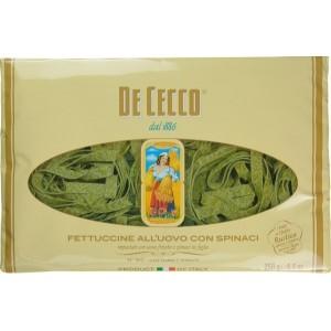 Фетучини с яйца и спанак 250g De Cecco