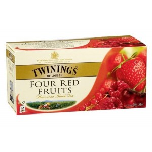 Черен чай Twinings 4 червени плода 25бр.х2g