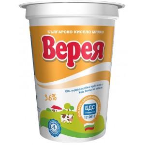 Кисело мляко Верея БДС 3,6% 400g