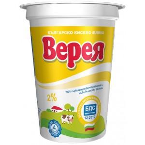 Кисело мляко Верея БДС 2% 400g
