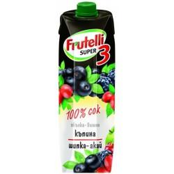 Frutelli Super 3 КЪПИНА ШИПКА Акай Бери 1l