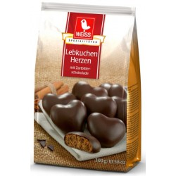 WEISS Меденки Сърца с тъмен шоколад 300g