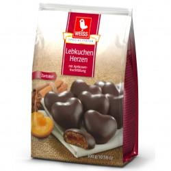 WEISS Меденки Тъмен шоколад с пълнеж 300g