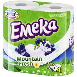 Тоалетна хартия ЕМЕКА Планинска свежест 4бр.