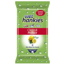 Влажни кърпички Hankies Antibacterial Лимон 15бр.