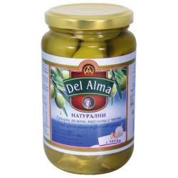 Mаслини зелени с чесън Del Alma 360g