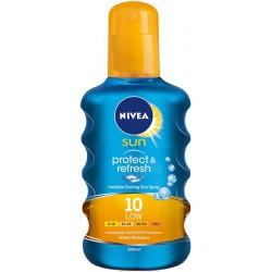 Спрей слънцезащитен NIVEA Protect&Refresh SPF 10 200ml