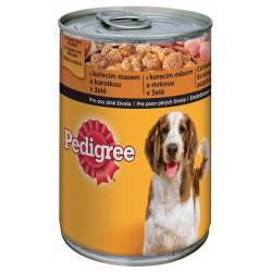 Храна за кучета Pedigree Пилешко и моркови 400g консерва