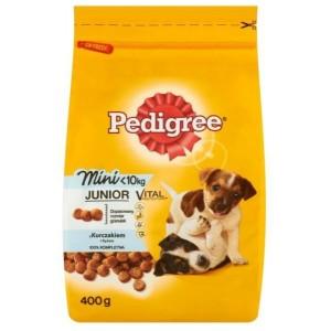 Суха храна за кучета Pedigree Junior Mini Пилешко и ориз 400g
