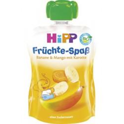 HIPP Био плодова закуска Моркови, манго, банан 90g